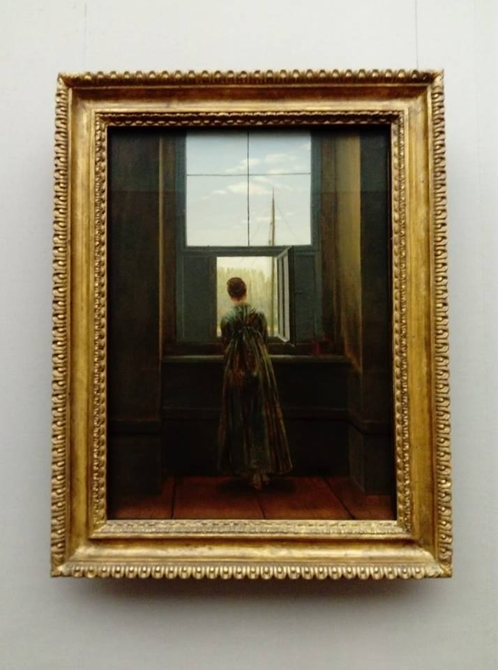 Donna alla finestra Caspar David Friedrich Alte Nationalgalerie di Berlino